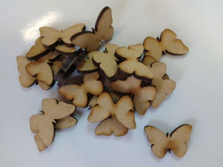 wooden craft BUTTERFLY shapes, laser cut 3mm mdf embellishments, decoupage,